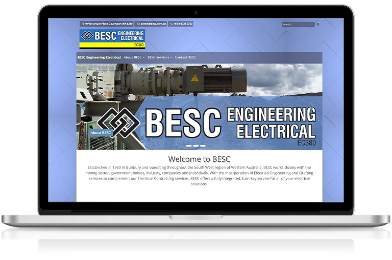 BESC Electrical Engineering website screenshot