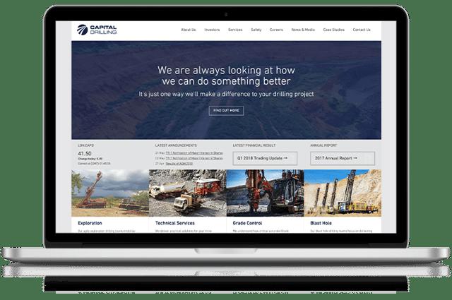 Capital Drilling Website Screenshot