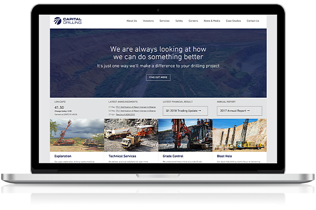 Capital Drilling Website Screenshot