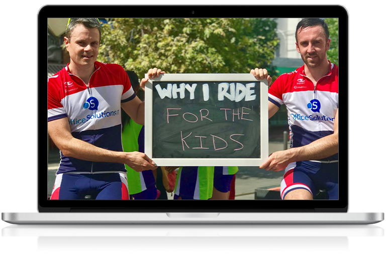 Office Solutions IT support engineers in Ride for Youth charity bike ride