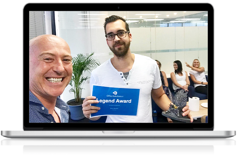 Office Solutions IT engineer winning legend award
